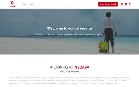 Screenshot of Jobs Page nezasa.com - Careers - Jobs - Nezasa - captured Nov. 3, 2018