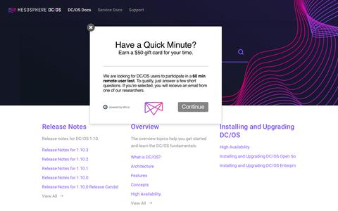 Mesosphere DC/OS Documentation
