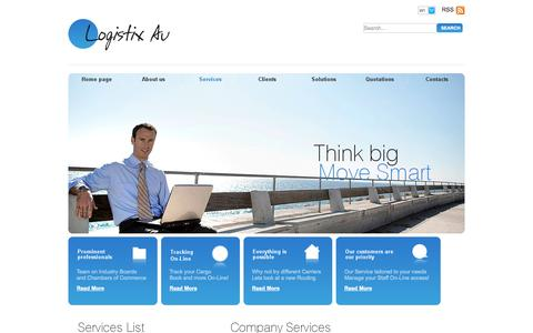 Screenshot of Services Page au.com - Services -  Logistix Au  an Australian International Cargo and Logistics Company. - Logistix Au - captured Sept. 19, 2014