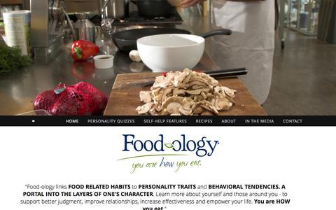 Screenshot of Home Page food-ology.com - FOOD-OLOGY - captured Oct. 6, 2014