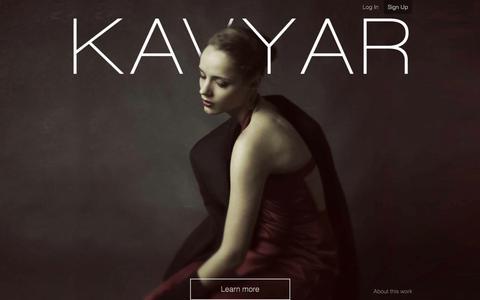 Screenshot of Home Page Signup Page kavyar.com - KAVYAR Creative Network - captured Sept. 30, 2014