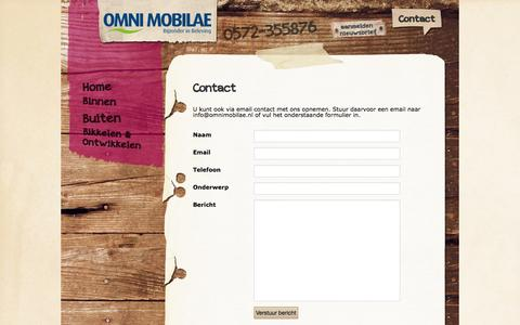 Screenshot of Contact Page omnimobilae.nl - Contact - Omni Mobilae - captured Oct. 6, 2014