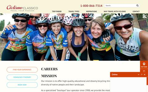 Screenshot of Jobs Page ciclismoclassico.com - Career at Ciclismo Classico - captured July 18, 2018