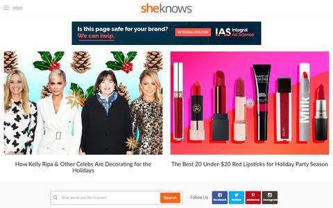 Screenshot of Home Page sheknows.com - SheKnows – Entertainment, Recipes, Parenting & Love Advice - captured Dec. 10, 2018