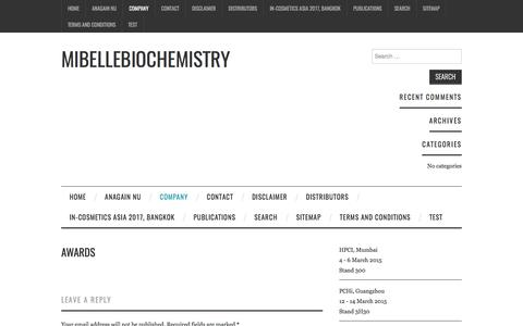 Awards – Mibellebiochemistry