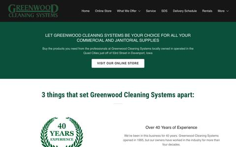 Screenshot of About Page greenwoodcs.com - About Us  | Greenwood Cleaning Systems - captured Nov. 11, 2018