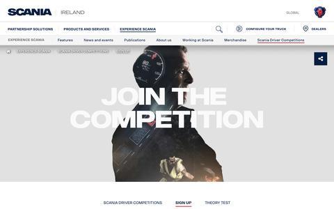 Screenshot of Signup Page scania.com - Sign up | Scania IRELAND - captured Oct. 20, 2018