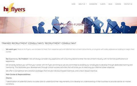 Screenshot of Jobs Page hi-fly.org - Recruitment Consultant Job Preston: Hi-Flyers Recruitment Preston - captured Aug. 8, 2017