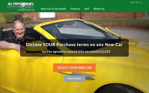 Screenshot of Home Page autoebid.com - Cheap New Car Deals UK - New Car Discount - Buy a Car - AutoeBid Cheap New Cars for Sale - captured July 3, 2015