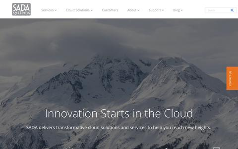 Screenshot of Home Page sadasystems.com - SADA Systems | Premier Cloud Partner | Microsoft & Google - captured Aug. 18, 2017