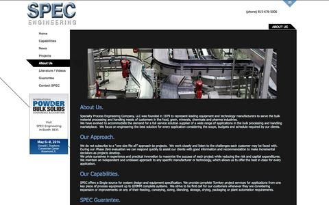 Screenshot of About Page specengsys.com - About SPEC Engineering | SPEC Engineering - captured Oct. 1, 2014