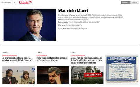 Mauricio Macri: noticias – clarin.com