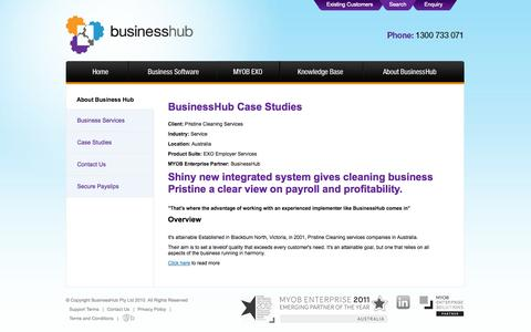 Screenshot of Case Studies Page businesshub.com.au - BusinessHub Case Studies - captured Sept. 30, 2014