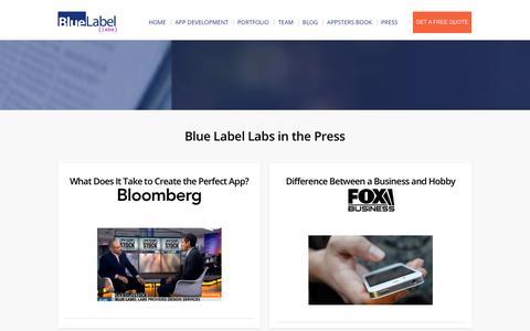Press & Media | Mobile App Development | Blue Label Labs