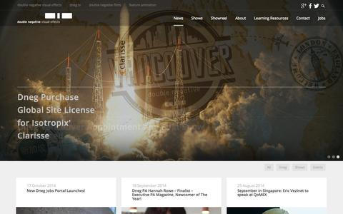 Screenshot of Press Page dneg.com - News | VFX Categories | Double Negative - captured Oct. 31, 2014