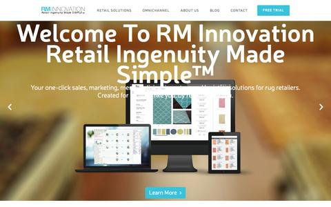 Screenshot of Trial Page rminno.com - RM Innovation - Retail Ingenuity Made Simple - captured Sept. 16, 2014