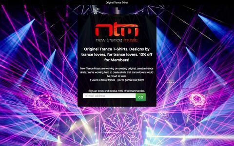 Screenshot of Signup Page newtrancemusic.com.au - Original Trance Shirt Designs - Sign Up Now! - captured Oct. 9, 2014