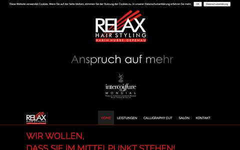 Screenshot of Home Page relax-hairstyling.de - Relax Hairstyling - captured June 10, 2018