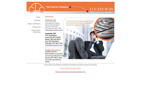 Screenshot of Contact Page couriergurus.com - Contact Us anytime to meet your critical delivery and shipping needs Cincinnati, Columbus, Louisville, Indianapolis - captured Oct. 26, 2014