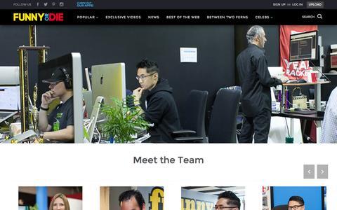 Screenshot of Jobs Page funnyordie.com - Funny Or Die - Careers - captured Jan. 27, 2016