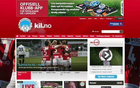 Screenshot of Home Page kil.no - Hjem  | Kongsvinger - captured Oct. 6, 2014