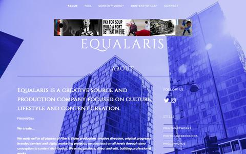 Screenshot of About Page equalaris.com - ABOUT – equalaris - captured Sept. 28, 2018
