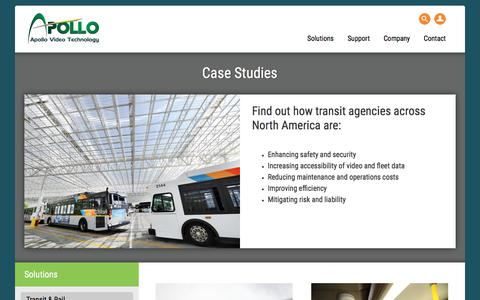 Screenshot of Case Studies Page apollovideotechnology.com - Case Studies - Apollo Video - captured July 30, 2018