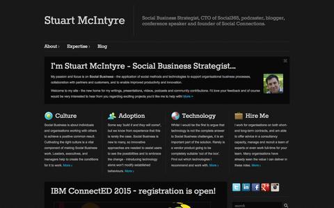 Screenshot of Home Page stuart-mcintyre.com - Stuart McIntyre - captured Oct. 6, 2014