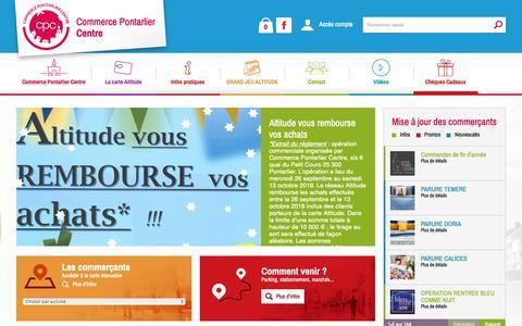 Screenshot of Home Page commerce-pontarlier.com - Commerce Pontarlier Centre - captured Nov. 24, 2018