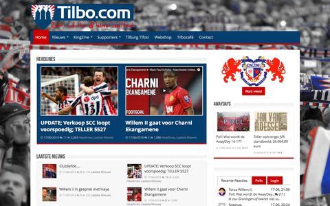 Screenshot of Home Page tilbo.com - Tilbo – Red White and Blue United - captured June 18, 2016