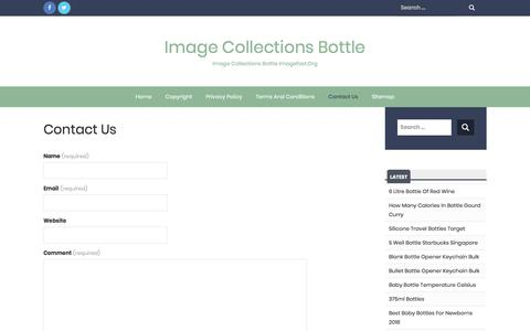 Screenshot of Contact Page imagefast.org - Contact Us - Image Collections Bottle - captured Sept. 23, 2018