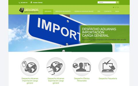 Screenshot of Home Page iaduanas.com - Agencia de aduanas - Agente de aduanas - iAduanas - captured Sept. 30, 2014