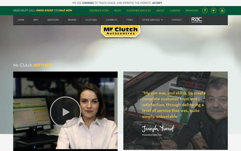 Screenshot of About Page mrclutch.com - About Mr Clutch Autocentres - captured June 28, 2017