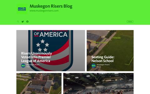 Screenshot of Blog muskegonrisers.com - Muskegon Risers Blog - captured Nov. 30, 2016