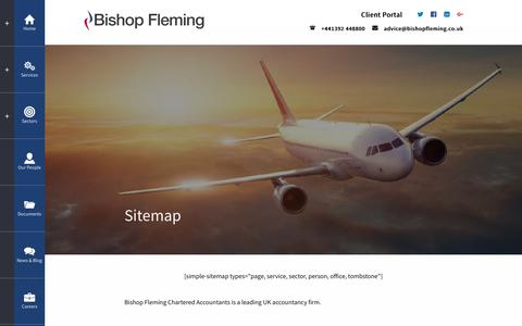 Screenshot of Site Map Page bishopfleming.co.uk - Sitemap | Bishop Fleming Chartered Accountants - captured Oct. 10, 2017