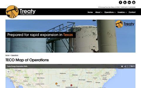 Screenshot of Maps & Directions Page treatyenergy.com - TECO Map of Operations | Treaty Energy Corporation - captured Oct. 7, 2014