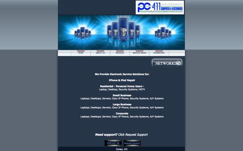 Screenshot of Services Page pcfouroneone.com - PC Four One One -Electronics Service Solutions - captured Oct. 1, 2014
