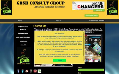 Screenshot of Contact Page gbshconsult.com - GBSH Contact Page | Top consulting firm contacts - captured May 12, 2017