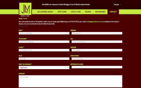 Screenshot of Contact Page agencelemeur.com - Contacter l'agence immobilière Le Meur   Agence Le MEUR Immobilier Côtes d'Armor, Bretagne, littoral. - captured Oct. 7, 2017