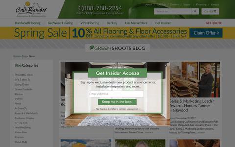 Screenshot of Press Page calibamboo.com - News - Cali Bamboo Greenshoots Blog - captured April 29, 2018