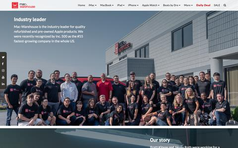 Screenshot of About Page mac-warehouse.com - About Us | Mac-Warehouse - captured Nov. 20, 2018
