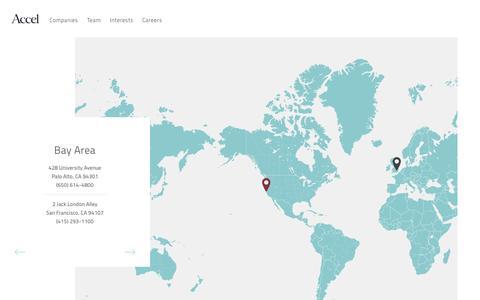 Screenshot of Contact Page accel.com - Accel - Contact - captured Nov. 15, 2016