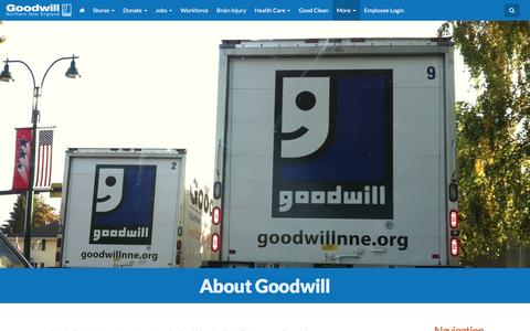 Screenshot of About Page goodwillnne.org - About Goodwill | Goodwill NNE - captured Nov. 12, 2016