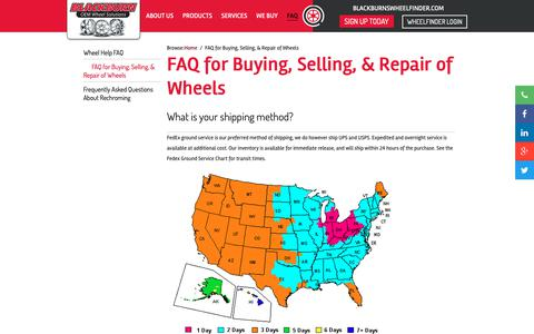 Screenshot of FAQ Page blackburnwheels.com - FAQ for Buying, Selling, & Repair of Wheels - Blackburn - Blackburn - captured Oct. 6, 2018