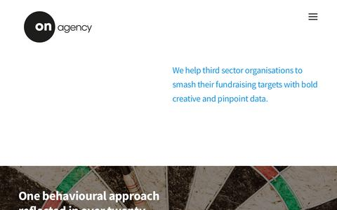 Screenshot of Home Page onagency.co.uk - On Agency | Target-Smashing Fundraising & Charity Marketing Agency - captured June 16, 2017