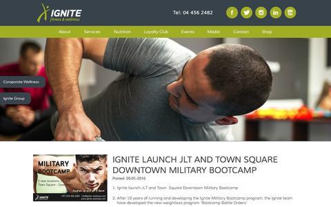 Screenshot of Press Page ignite-wellness.com - Ignite Fitness and Wellness - captured Feb. 10, 2016