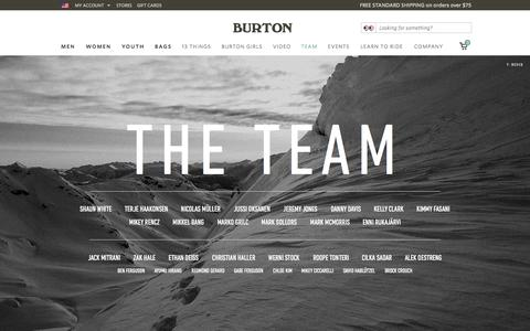 Screenshot of Team Page burton.com - Team | Burton Snowboards - captured Sept. 19, 2014