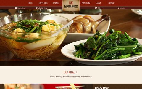 Screenshot of Home Page rainbowrestaurant.com captured Sept. 23, 2014