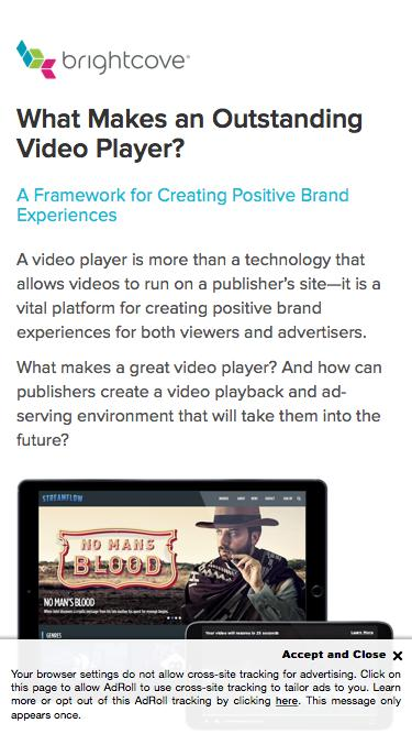 Brightcove | What Makes an Outstanding Video Player