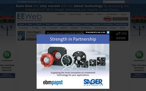 Screenshot of Login Page eeweb.com - Login - EEWeb - Electrical Engineering News, Resources, and Community | EEWeb Community - captured Oct. 20, 2015